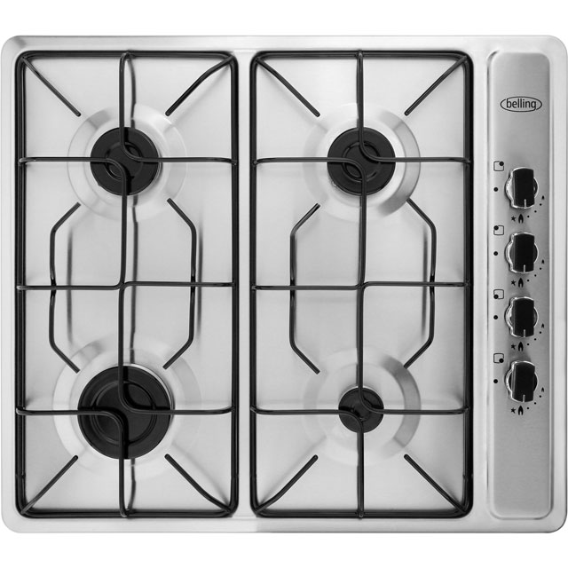 Belling GHU60GEMK2STA Built In Gas Hob - Stainless Steel - GHU60GEMK2STA_SS - 1