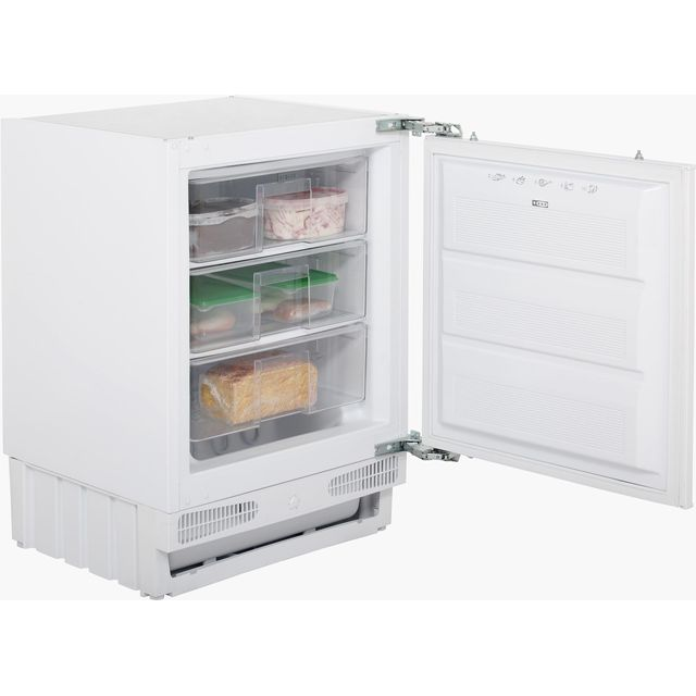 Stoves INTFRZ Integrated Under Counter Freezer with Fixed Door Fixing Kit - A+ Rated - INTFRZ_WH - 1