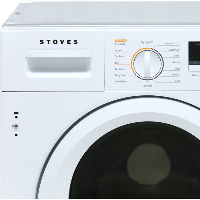 Stoves IWD8614 Built In 8Kg / 6Kg Washer Dryer - White - IWD8614_WH - 2