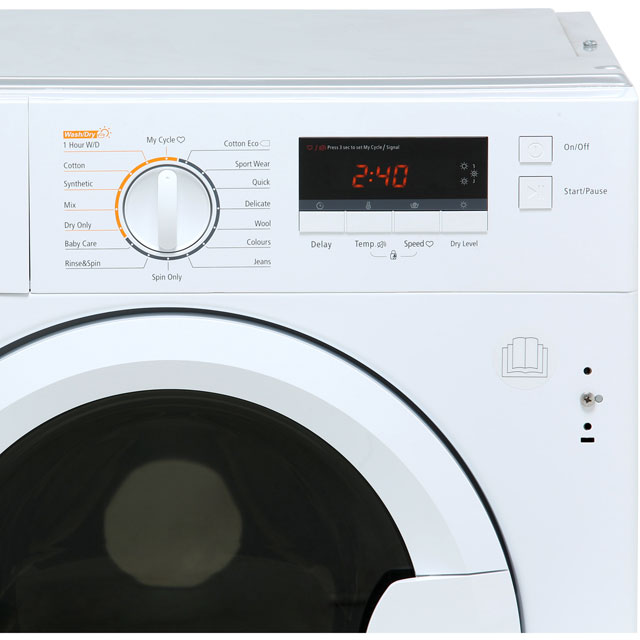 Stoves IWD8614 Built In 8Kg / 6Kg Washer Dryer - White - IWD8614_WH - 3