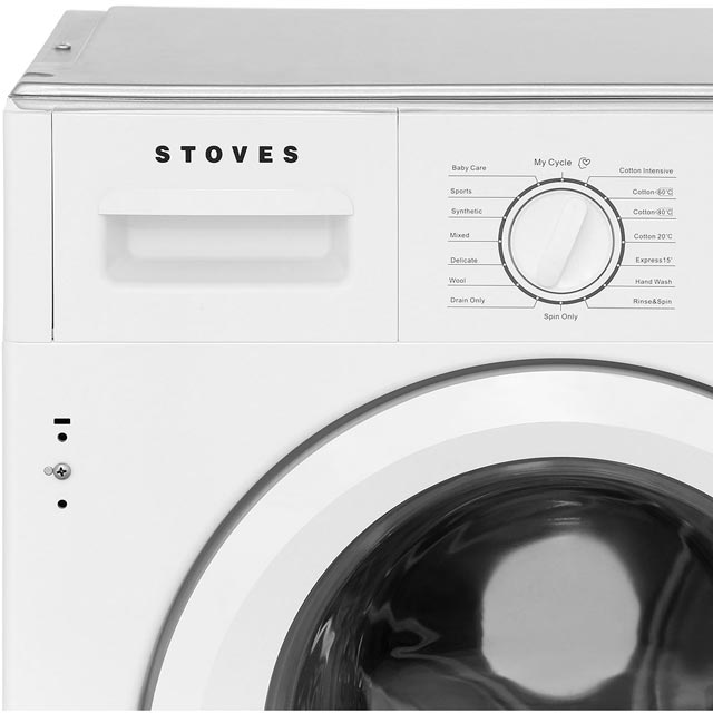 Stoves IWM8KG Integrated 8Kg Washing Machine with 1400 rpm - A+++ Rated - IWM8KG_WH - 3