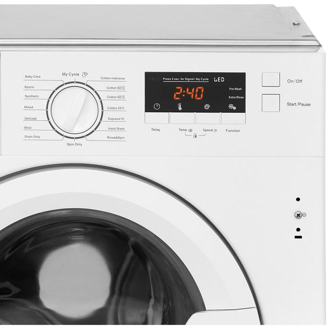 Stoves IWM8KG Integrated 8Kg Washing Machine with 1400 rpm - A+++ Rated - IWM8KG_WH - 4