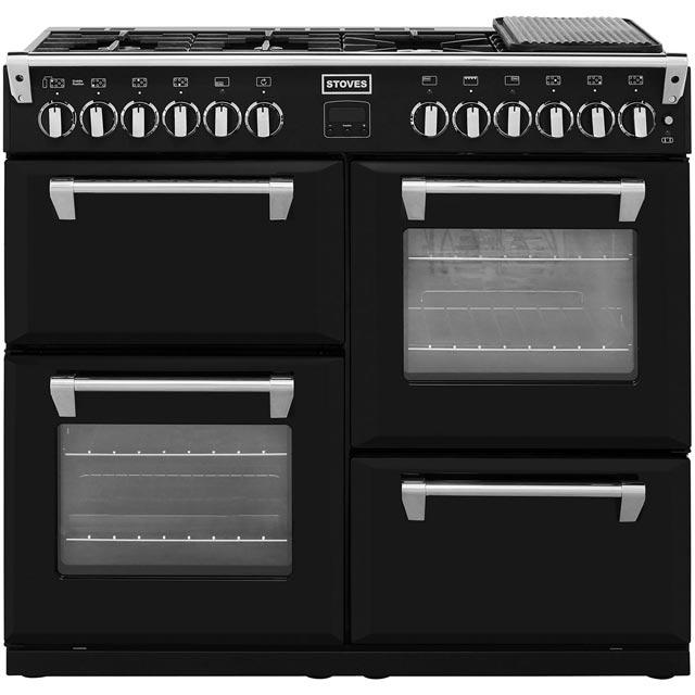 Image of 1000mm Dual Fuel Range Cooker WOK Burner Black