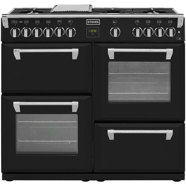 Stoves Richmond RICHMOND1000GT 100cm Gas Range Cooker with Electric Grill - Black - A/A/A+ Rated