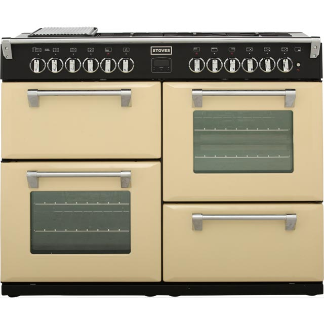 Stoves Richmond 110cm Dual Fuel Range Cooker - Champagne - A Rated