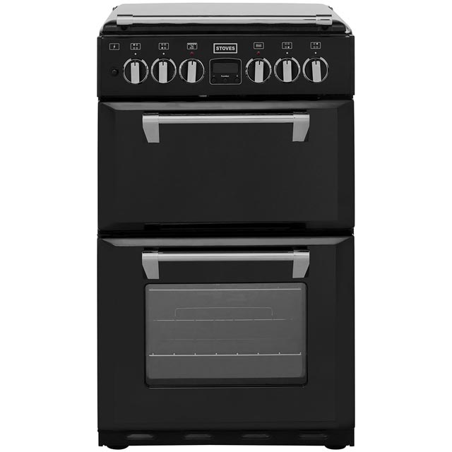 Stoves Mini Range RICHMOND550DFW Dual Fuel Cooker - Black - RICHMOND550DFW_BK - 1