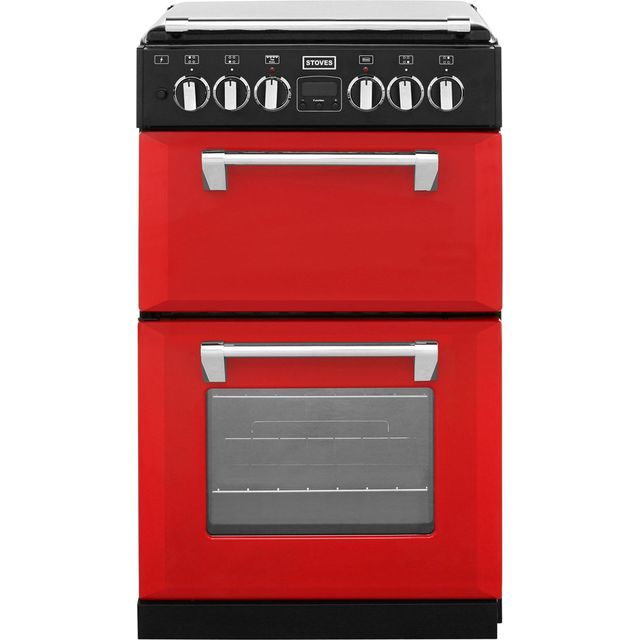 Stoves Mini Range RICHMOND550DFW 55cm Dual Fuel Cooker - Hot Jalapeno - A Rated - Needs 4.9KW Electrical Connection
