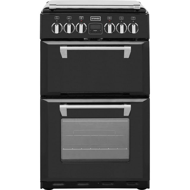 Stoves Mini Range RICHMOND550E 55cm Electric Cooker with Ceramic Hob - Black - A/A Rated - RICHMOND550E_BK - 1