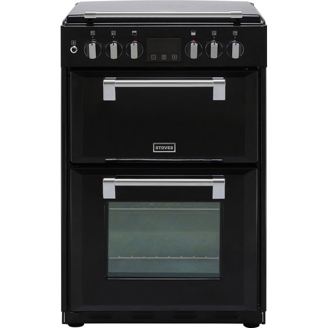 Stoves Richmond600DF 60cm Dual Fuel Cooker - Black - A/A Rated