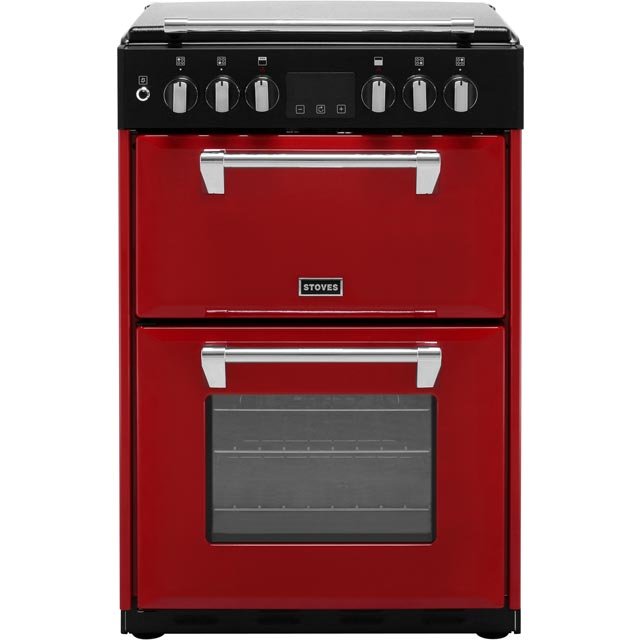 Stoves Richmond600DF 60cm Dual Fuel Cooker - Hot Jalapeno - A/A Rated - Richmond600DF_HJAL - 1