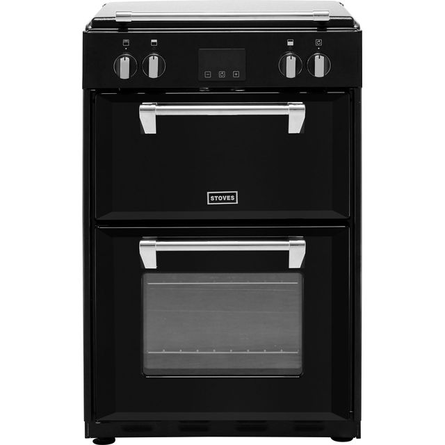 Stoves Richmond600Ei 60cm Electric Cooker with Induction Hob - Black - A/A Rated - Richmond600Ei_BK - 1