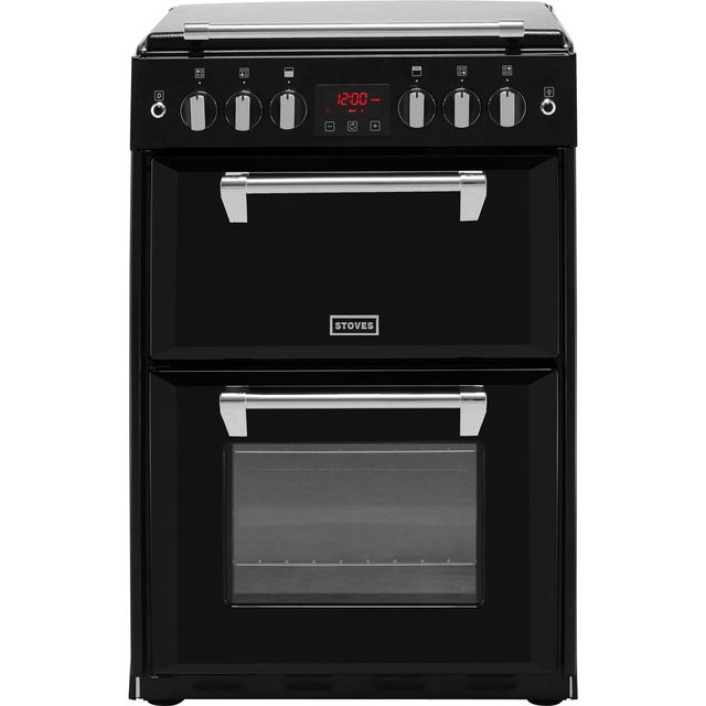 Stoves Richmond600G 60cm Gas Cooker with Full Width Electric Grill - Black - A+/A Rated - Richmond600G_BK - 1