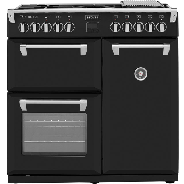 Stoves Richmond 90cm Dual Fuel Range Cooker - Black - A Rated