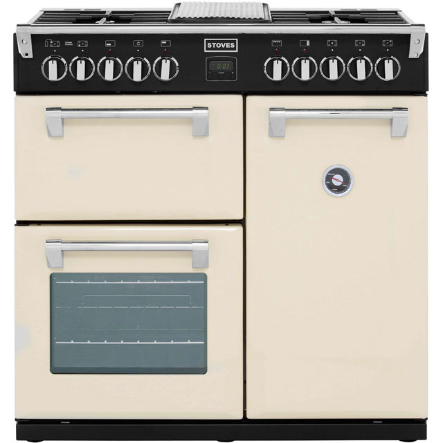 Stoves 90cm Dual Fuel Range Cooker - Champagne - A Rated