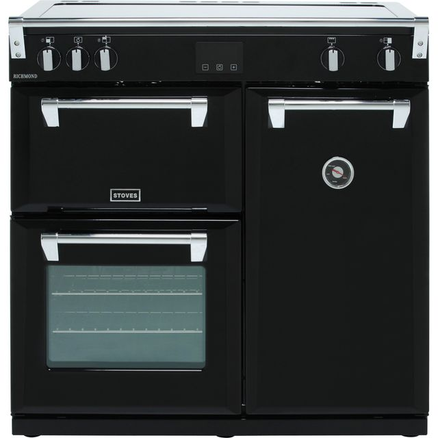 Stoves Richmond S900Ei 90cm Electric Range Cooker with Induction Hob - Black - A/A/A Rated - Richmond S900Ei_BK - 1