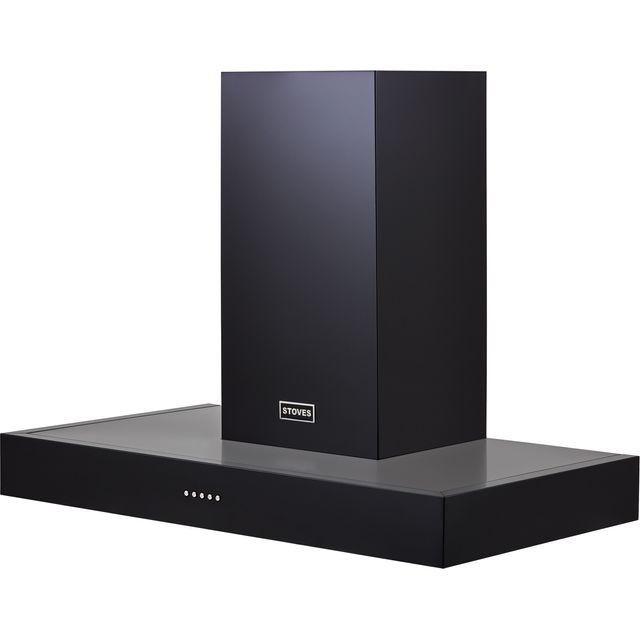 Stoves S900 STER FLAT 90 cm Chimney Cooker Hood - Black - A Rated