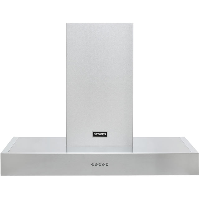 Stoves S900 STER FLAT 90 cm Chimney Cooker Hood - Black - A Rated - S900 STER FLAT_BK - 1