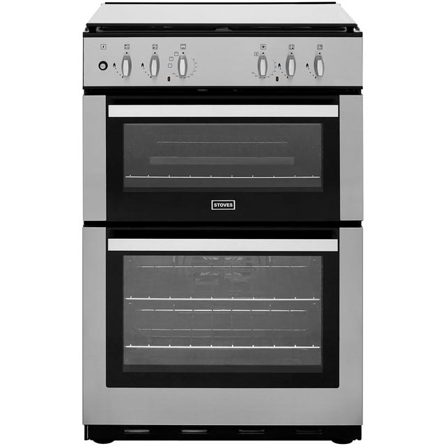 Stoves 60cm Dual Fuel Cooker - Stainless Steel - A/A Rated