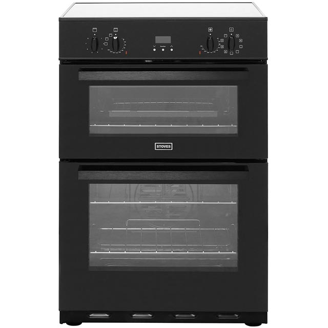 Stoves 60cm Electric Cooker with Induction Hob - Black - A/A Rated