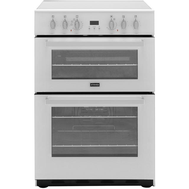 Stoves Electric Cooker with Ceramic Hob - White - A/A Rated