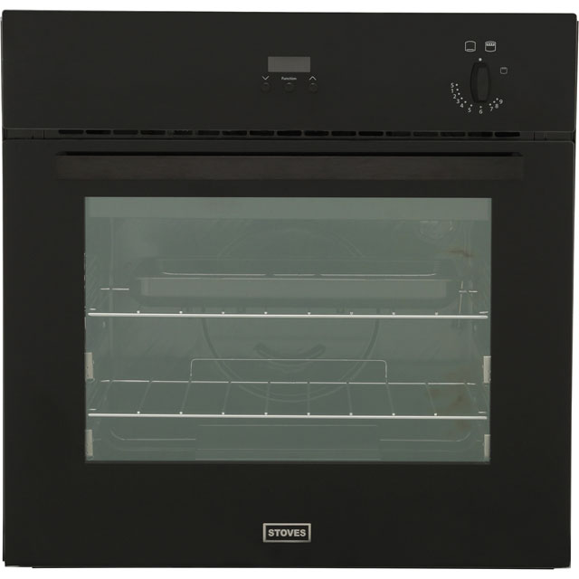 Stoves SGB600PS Built In Gas Single Oven - Black - A Rated - SGB600PS_BK - 1