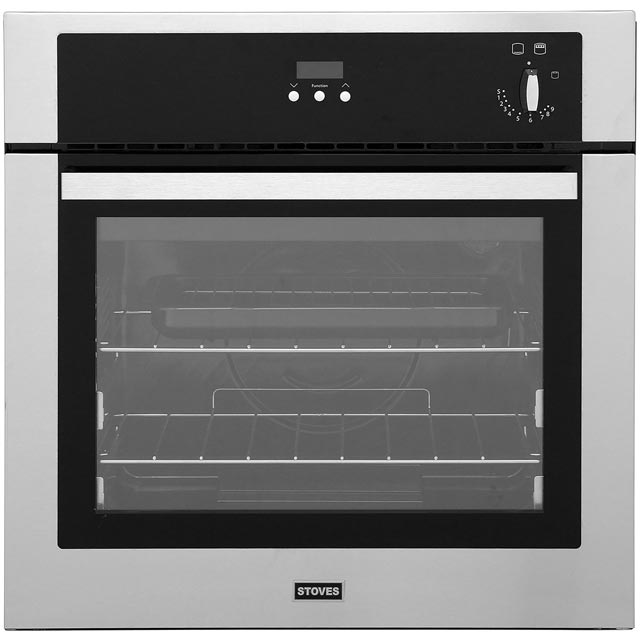 Stoves SGB600PS Built In Gas Single Oven - Stainless Steel - A Rated - SGB600PS_SS - 1