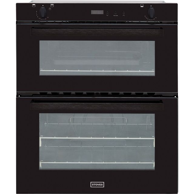 Stoves SGB700PS Built Under Double Oven - Black - A/B Rated - SGB700PS_BK - 1