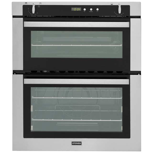 Stoves SGB700PS Built Under Double Oven - Stainless Steel - B/A Rated - SGB700PS_SS - 1