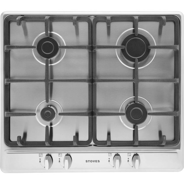Stoves SGH600C Built In Gas Hob - Stainless Steel - SGH600C_SS - 1