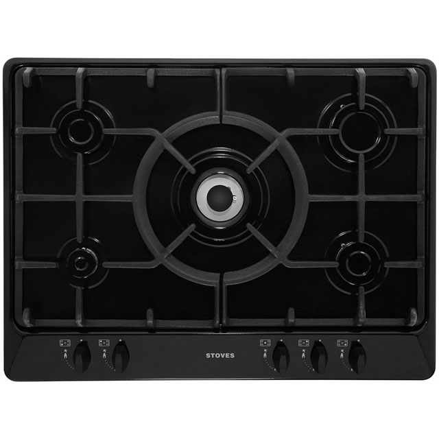 Stoves SGH700C Built In Gas Hob - Black - SGH700C_BK - 1