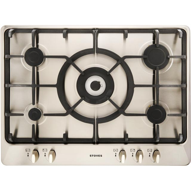 Stoves SGH700C Built In Gas Hob - Stainless Steel - SGH700C_SS - 1