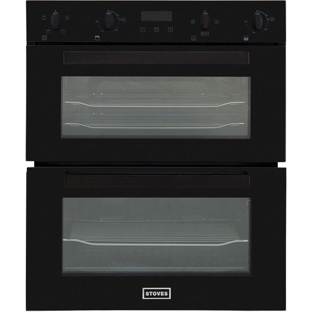 Stoves ST BI702MFCT Built Under Double Oven - Black - ST BI702MFCT_BK - 1