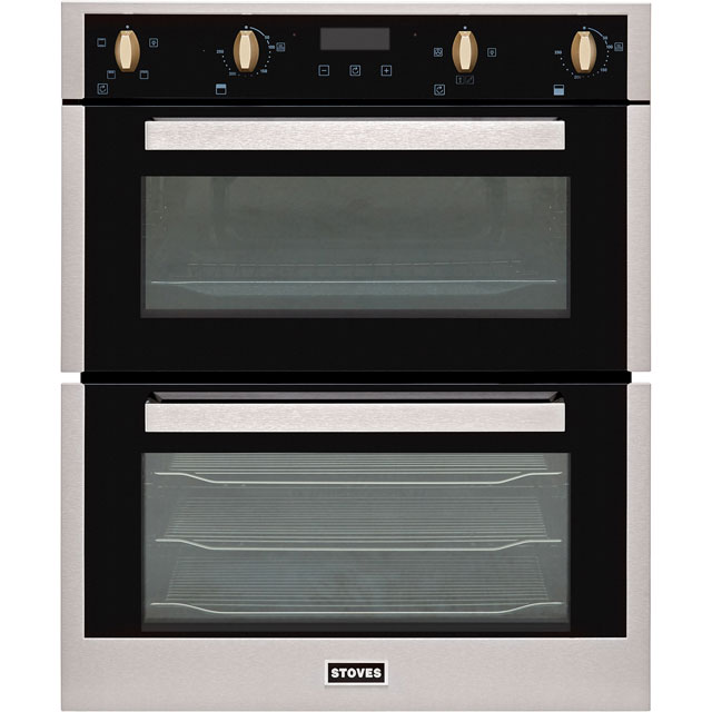 Stoves ST BI702MFCT Built Under Double Oven - Stainless Steel - ST BI702MFCT_SS - 1