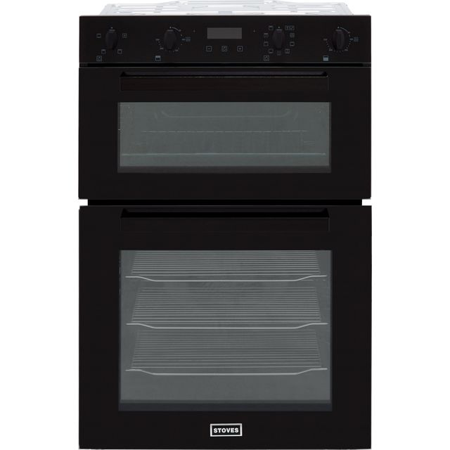 Stoves ST BI902MFCT Built In Double Oven - Black - A/A Rated - ST BI902MFCT_BK - 1