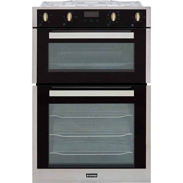 Stoves ST BI902MFCT Built In Electric Double Oven - Stainless Steel - ST BI902MFCT_SS - 1