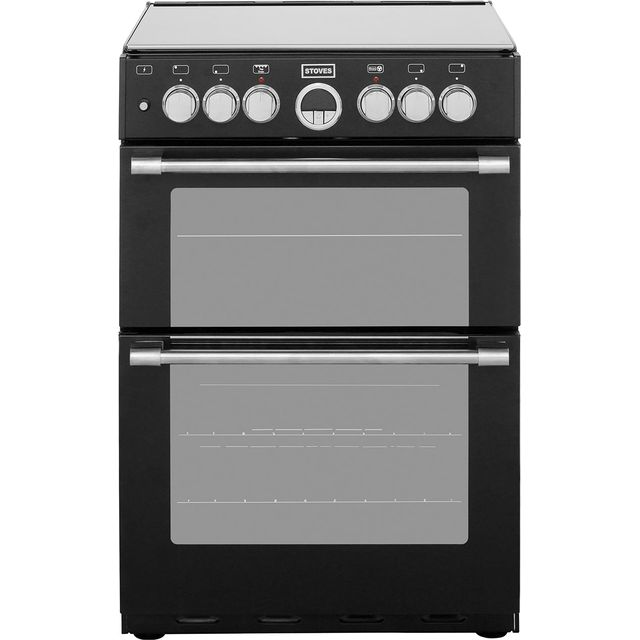 Stoves Sterling STERLING600DF 60cm Dual Fuel Cooker - Black - A/A Rated - STERLING600DF_BK - 1