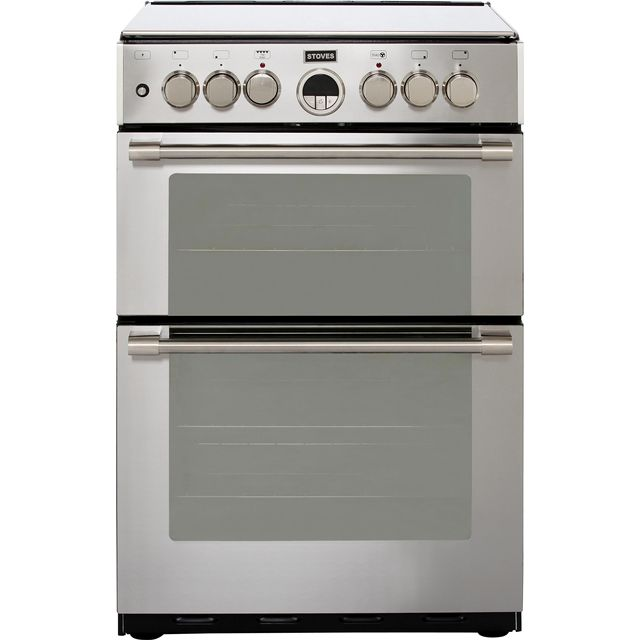 Stoves Sterling STERLING600DF 60cm Dual Fuel Cooker - Stainless Steel - A/A Rated - STERLING600DF_SS - 1