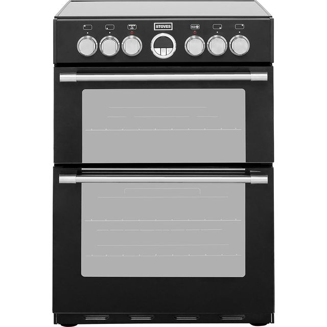 Stoves STERLING600E 60cm Electric Cooker with Ceramic Hob - Black - A/A Rated - STERLING600E_BK - 1