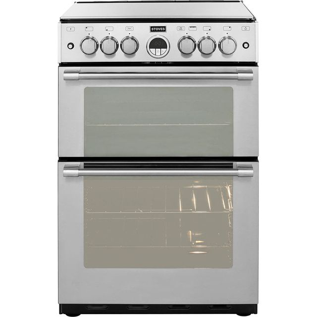 Stoves Sterling STERLING600G 60cm Gas Cooker with Full Width Electric Grill - Stainless Steel - A/A Rated - STERLING600G_SS - 1