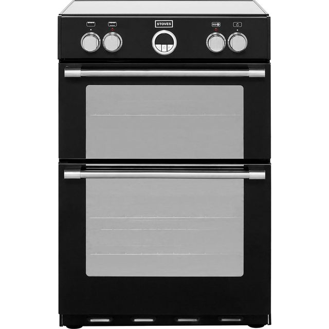 Stoves Sterling600MFTi 60cm Electric Cooker with Induction Hob - Black - A/A Rated - Sterling600MFTi_BK - 1