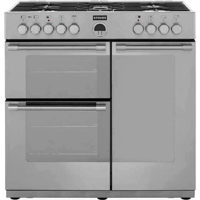 Stoves STERLING900DFT 90cm Dual Fuel Range Cooker - Stainless Steel