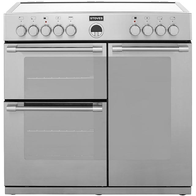 Stoves Sterling 90cm Electric Range Cooker with Ceramic Hob - Stainless Steel - A Rated