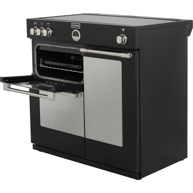 Stoves STERLING900Ei Sterling 90cm Electric Range Cooker - Black - STERLING900Ei_BK - 2