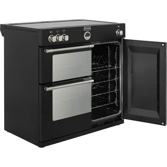 Stoves STERLING900Ei Sterling 90cm Electric Range Cooker - Black - STERLING900Ei_BK - 4