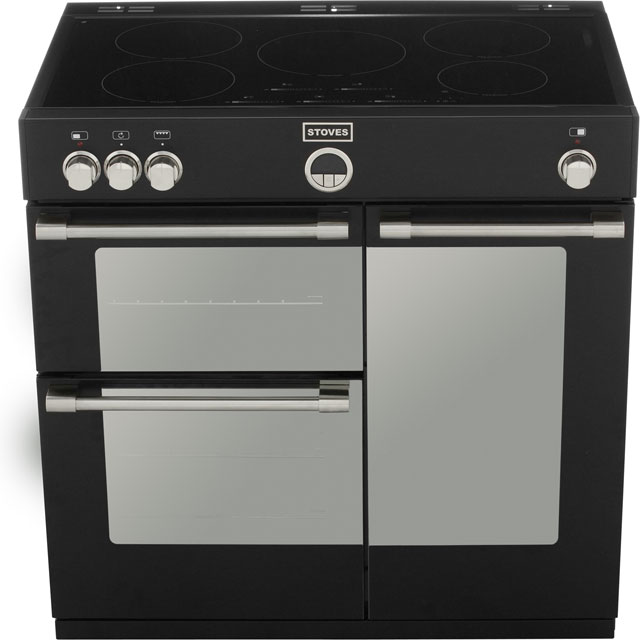 Stoves STERLING900Ei Sterling 90cm Electric Range Cooker - Black - STERLING900Ei_BK - 5