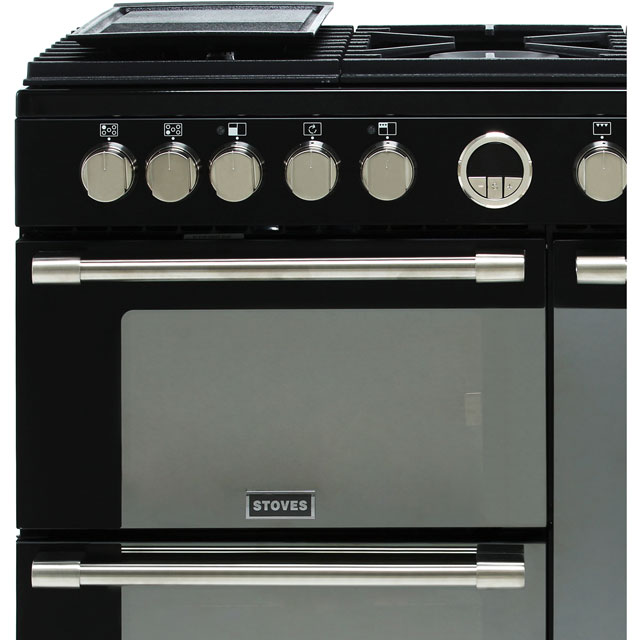Stoves Sterling S900DF 90cm Dual Fuel Range Cooker - Black - Sterling S900DF_BK - 2