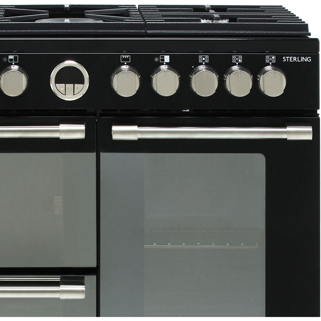 Stoves Sterling S900DF 90cm Dual Fuel Range Cooker - Black - Sterling S900DF_BK - 3