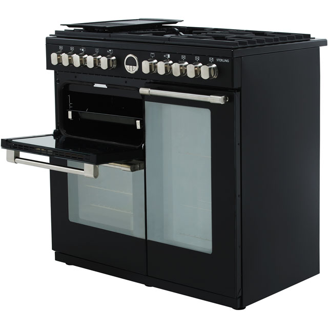 Stoves Sterling S900DF 90cm Dual Fuel Range Cooker - Black - Sterling S900DF_BK - 4