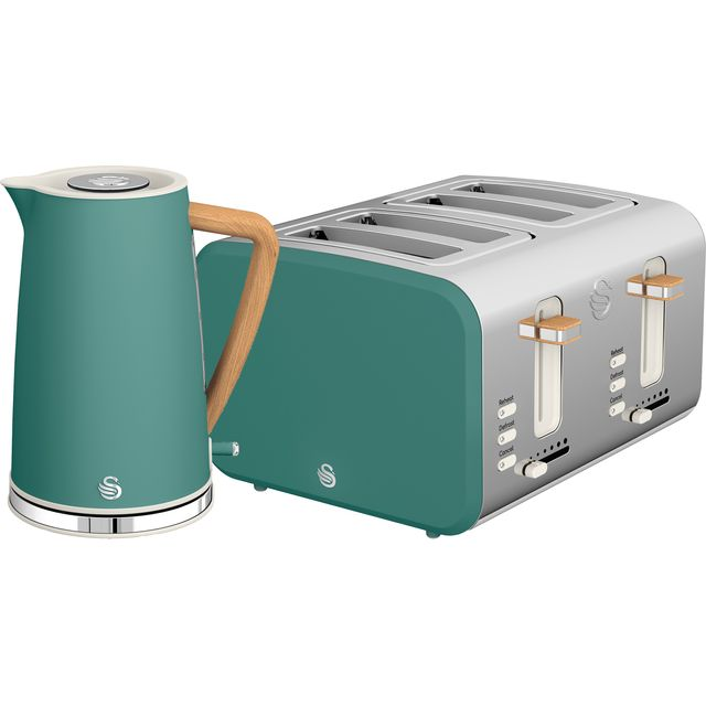 Swan Nordic STP2091GREN Kettle And Toaster Set - Green