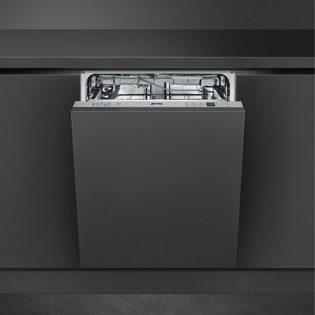 Smeg Semi-Professional STP364S Commercial Fully Integrated Standard Dishwasher - Stainless Steel Control Panel with Fixed Door Fixing Kit - A++ Rated - STP364S_SS - 1